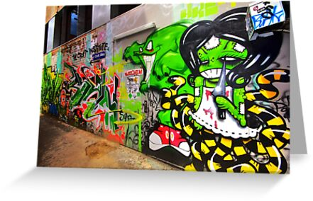 Come this way.. it's safe.. Croft Alley by Sam  Parsons