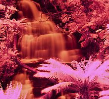 Triplet Falls In IR by Keith Irving
