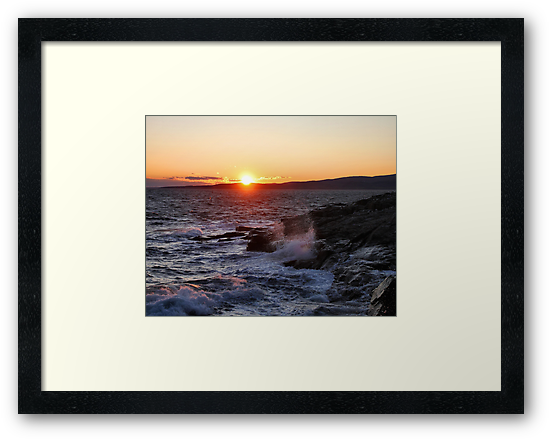 'October Sunset, Schoodic Point' by Scott Bricker