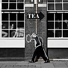 the coffee lover (selective colour) by Umbra101