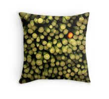 lonely red asparagus Throw Pillow