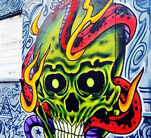 Skull Graffiti, Fitzroy by Roz McQuillan
