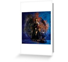Captain Persephone Blue Greeting Card