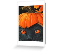 Bats in the Belfry? - halloween painting Greeting Card