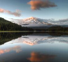 Mount Hood from Trillium Lake by davidgnsx1