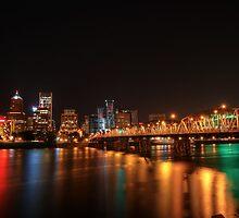 Portland Skyline at Night by davidgnsx1