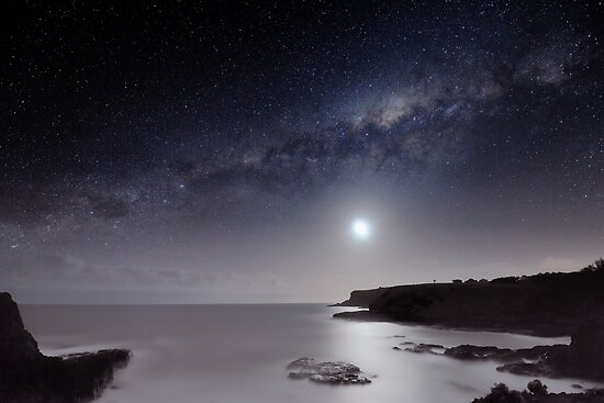Milky Way and Moon Glow by Alex Cherney