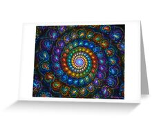 Spiral Shell Beads Greeting Card