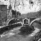 Ponte Fabricio in Winter – Rome by maddie5