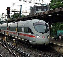 An electric multiple unit of the class INTERCITY EXPRESS T of German railways by trainmaniac