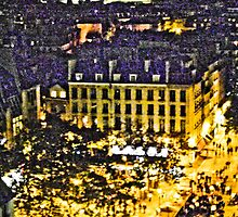 Street of Paris from Centre Pompidou - Artistic by Fabio Procaccini