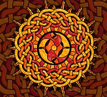 Celtic Knotwork Sun by foxvox