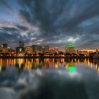 Portland Skyline at Dusk by davidgnsx1