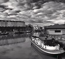 Bristol Docks Black and White by Alan Watt