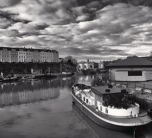 Bristol Docks Black and White by Alan Watt