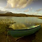 Little Blue Boat at Loch Awe by Martin Slowey