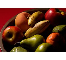 Bucket of fruit Photographic Print