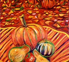 """""""Fall Pumpkins At Harvest"""" - October In Rhode Island by Jack McCabe"""