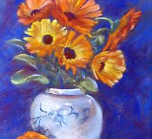 Marigolds & Mandarin (Adgray & Hidemi made me do it)!! by Lynda Robinson