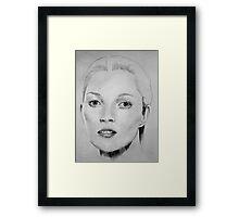 Kate Moss portrait Framed Print