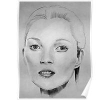 Kate Moss portrait Poster