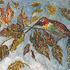 Humming Bird and Autumn Leaves by GEORGE SANDERSON