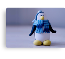 march of the penguin Canvas Print