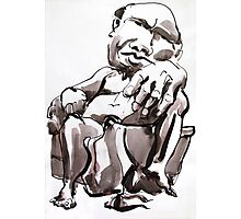 Man in Chair Photographic Print