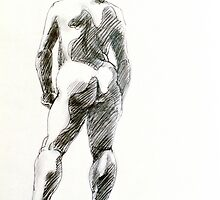 Standing Female Nude by Mark Ramstead