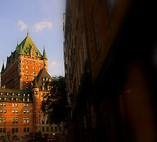 Golden Light- Chateau Frontenac by Russ Styles