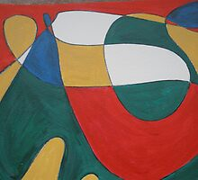Abstract Drawing Painted by Sandi Lansing