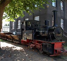 German steam locomotive for coal transport from the mine. by trainmaniac