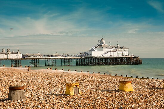 Eastbourne Pier and Beach. East Sussex, UK. by DonDavisUK