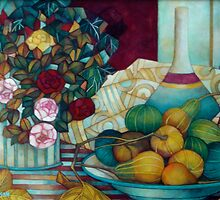 still life with pumpkins by elisabetta trevisan