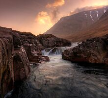 Sunrise over Sron na Creise, Glen Etive by David Mould
