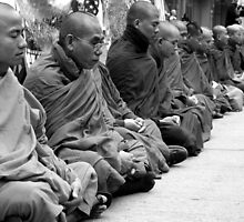 Burmese Monks in a Silent Meditation Protest - Pittsburgh G20 by carsynvolk