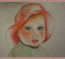 Little Girl With Red Hat by Noel78