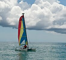 Jamaica series - sailing the Jamaican sea  by Mountainimage