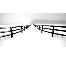 Fenced White Out Photographic Print