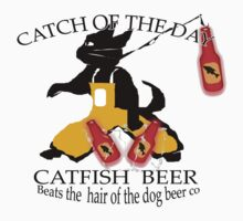 Catfish Beer T-Shirt by simpsonvisuals