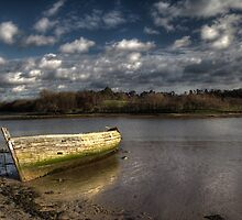 Hulk - going nowhere on the river Deben by Aidan Semmens