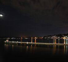 Quiet Lake Night by barmat