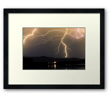 Rocky Mountain Foothills Lightning Storm Framed Print