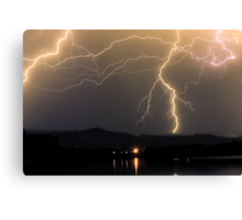 Rocky Mountain Foothills Lightning Storm Canvas Print