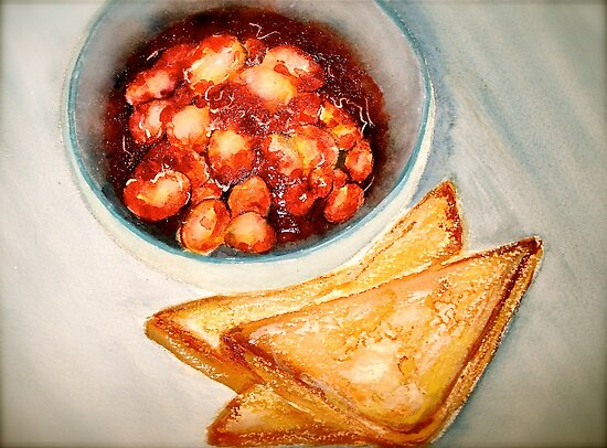 Delicious...Beans in Tomato Sauce and Toast by © Janis Zroback