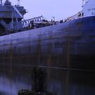 Steel Ship,In The Owen Sound Harbour-Summer 2009 by Les Wazny