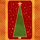 xmas tree card by 1001cards
