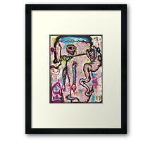 Snake On Your Back Framed Print