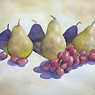 Pears and Grapes. by Bobbi Price