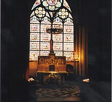 Side chapel in Notre Dame Cathederal by Lawrence Gillies